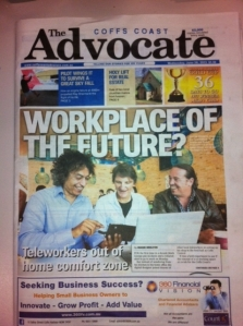 front page advocate - popup