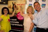 Dr Amantha Imber (Inventium), Coffs Harbour Mayor Denise Knight and Anthony Jephcott (Telstra)
