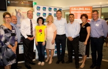 Julianne McKeon (CHIC), Stephen Saunders (CHCC), Kevin Riddell, Amantha Imber, Denise Knight (Mayor, CHCC), Anthony Jephcott, Telstra; Garth Shipperllee, Coffs Chamber of Commerce, Kristina Cooke, CHCC; Chris Chapman, CHCC